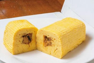 つけ焼きにした新鮮なハモを巻いて焼き上げた活はも巻き(1235円)もオススメ/田中鶏卵