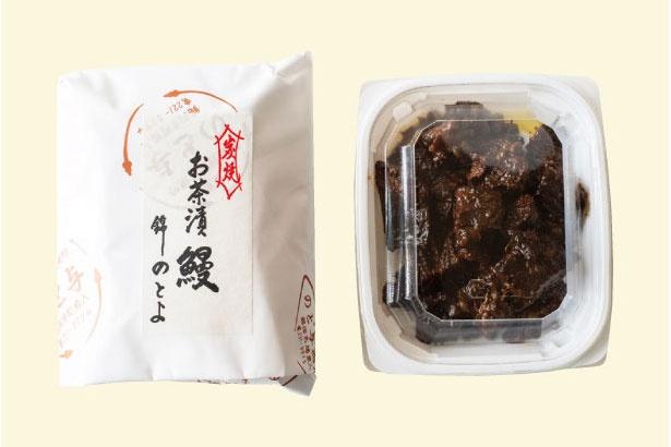 お茶漬 鰻(1900円/100g)は、焼きウナギを特製ダレで炊き込んだ逸品。山椒が効いて酒のアテに相性抜群/のとよ