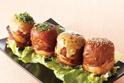 秘伝のタレが豚肉やご飯に染みてウマーイ! 「肉巻きおにぎり」(1個400円・湘南GANKO肉巻き屋)