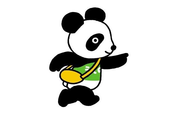 走る「うえのパンダ」