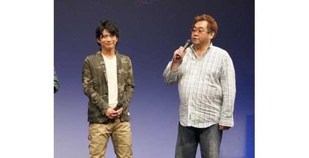 番組プロデューサーの中谷(右)は「この作品のために今まで徳を積んできた」とコメントし、他の出演者の笑いを誘った