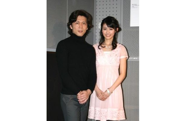 NHK音楽・伝統芸能番組説明会見に出席した熊川哲也と本仮屋ユイカ(写真左から)