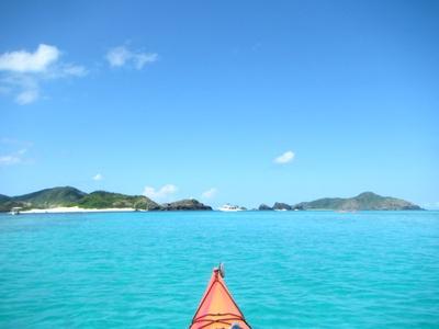 座間味島はウミガメの産卵地としても有名。水中を観察しながら進もう