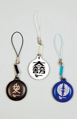 携帯クリーナー。左から、直江兼続、石田三成、大谷吉継