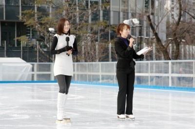 演技後のインタビューでは「青空の下でのスケートは気持ちいい」とコメント