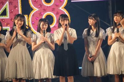 STU48の薮下楓が復帰の挨拶!