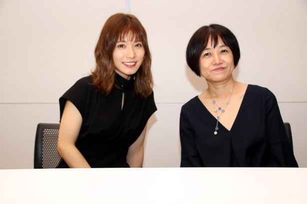 『蜜蜂と遠雷』の主演女優、松岡茉優と原作者の恩田陸先生