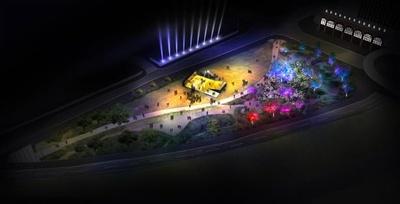 これまでにない新たなイルミネーション体験 ※画像は新港中央広場のイメージ
