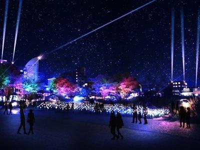 横浜の新港地区および8施設で10分間の特別演出を実施 ※画像はイメージ