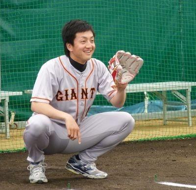 澤村投手は終始笑顔で子どもたちとのキャッチボールを楽しんでいた