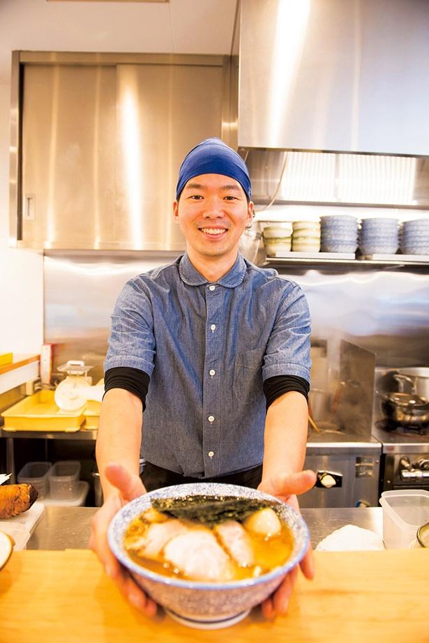 店主の田中裕さん。ポリシーは、「食材や調理、接客に一切妥協せず、お客様に安全安心なモノを届けられるよう常に向上心をもって取り組むこと」。