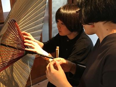 日本の和傘の7割を生産する岐阜の文化も学べる、和傘職人と自分だけの岐阜和傘糸かがり体験 / 長良川おんぱく 2019
