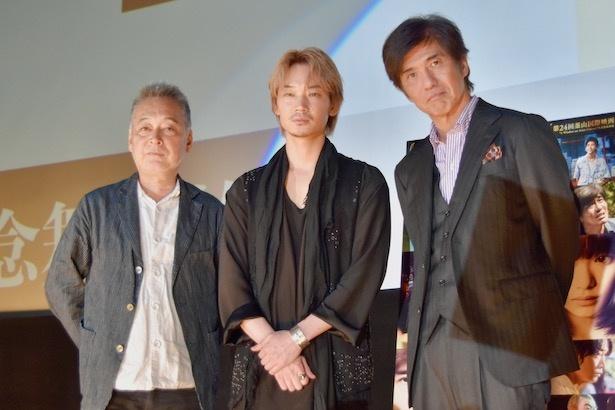 『楽園』の大阪舞台挨拶が行われた