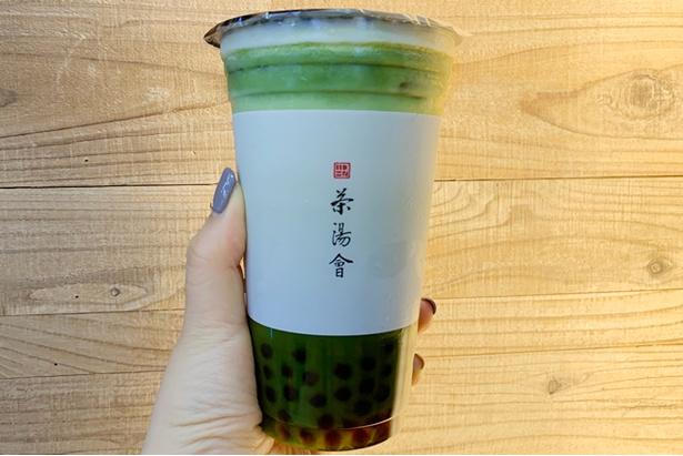タピオカ抹茶ラテ(594円) / 本場台湾では味わえない、日本限定のフレーバー