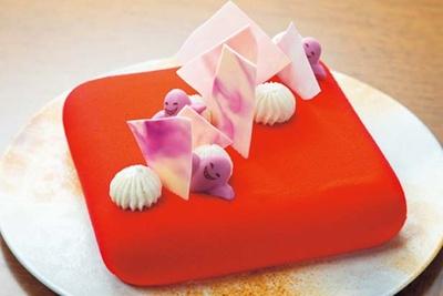 クリームチーズのムース、オリジナル・レッドベルベットケーキ/コンラッド大阪「ハロウィンスイーツブッフェ」
