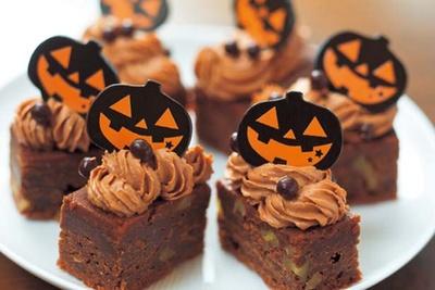 濃厚でしっとりとしたチョコレートブラウニーもハロウィン仕様に/コンラッド大阪「ハロウィンスイーツブッフェ」