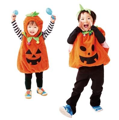 未就学児向けのハロウィーン衣装の無料レンタルを実施。カボチャになりきって、キッズタウンへ!