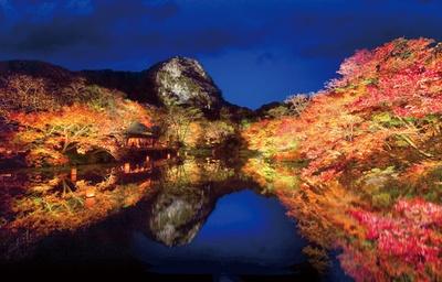 【写真を見る】約15万坪の庭園で多彩な紅葉を観賞できる。ライトアップも必見! / 御船山楽園 紅葉まつり