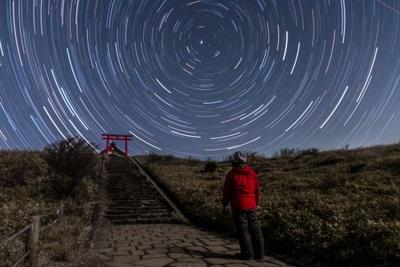 360°の大パノラマの夜空