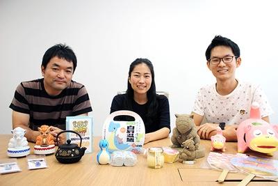 株式会社ポケモンの田村晃士さん(写真左)、津田明子さん(写真中央)、今村啓太さん(写真右)