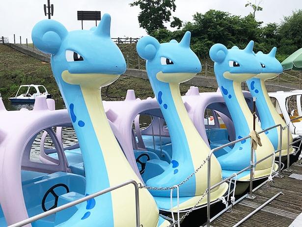 【写真】乗ってみたい!国営みちのく杜の湖畔公園に4台設置されたラプラスボート