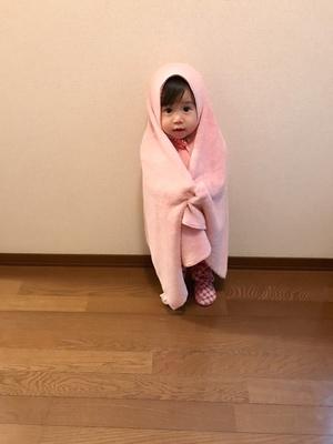 毛布みたいなふわふわタオルが大好き!