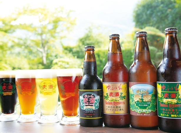 ゆふいん 山水館 / 館内で地ビールのゆふいん麦酒(1本税込630円~)を製造