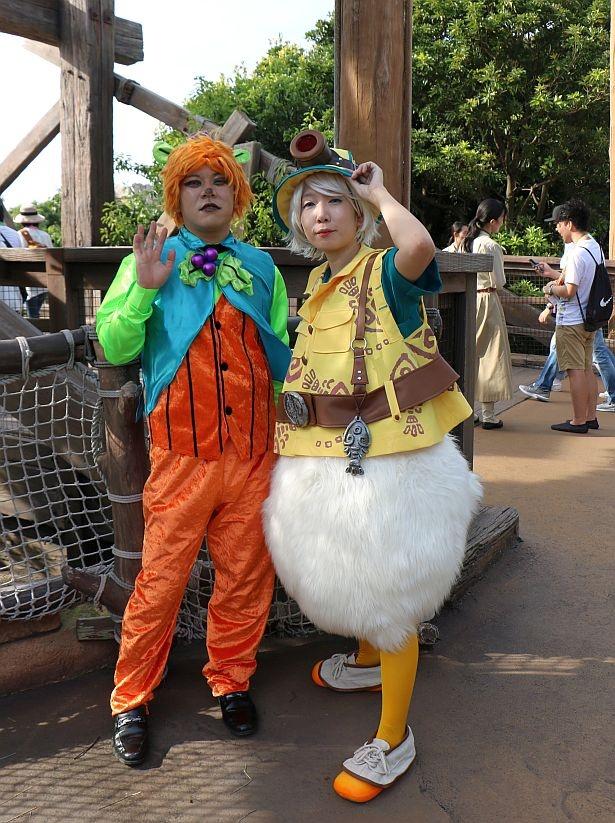 キャラクターが過去のショーで着用した衣装を再現