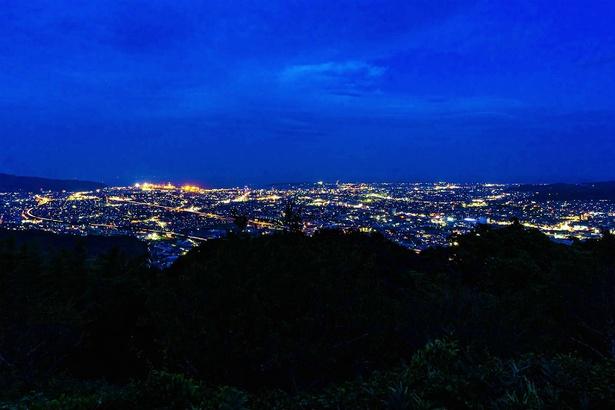 【写真を見る】日本夜景遺産に選ばれた梶原山公園の夜景(静岡県静岡市)