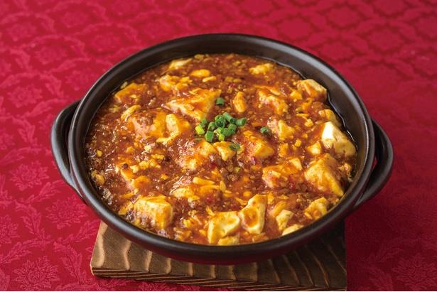 中国名菜 儷郷 / 人気メニューの麻婆豆腐(1620円)。子供でも食べやすい辛さで調整するファンの多い一品