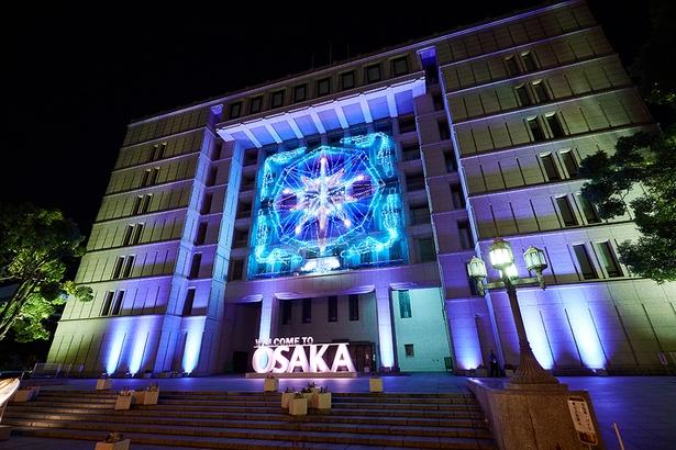大阪市役所正面玄関前広場にあるフォトモニュメント/御堂筋イルミネーション2019