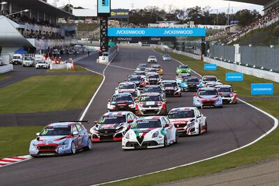 「2018 FIA WTCR Race of Japan」スタートシーン