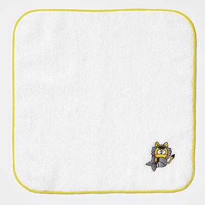 「姫ちゃんのリボン」のポコ太の今治ミニタオル。忍者姿のポコ太が入ったキュートなデザイン(1320円)/「特別展 りぼん」