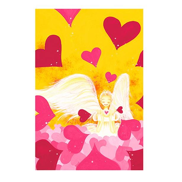 「エンジェル冴島」のカラフルでキュートな原画イラストを、特殊印刷で細部まで忠実に再現した「天使なんかじゃない」の複製原画※受注商品(35200円) /「特別展 りぼん」