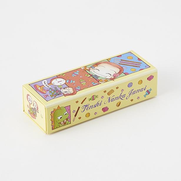 「天使なんかじゃない」のふろくをイメージしたデザインがとってもキュートなBOXにチョコクランチが入っています(1320円) /「特別展 りぼん」