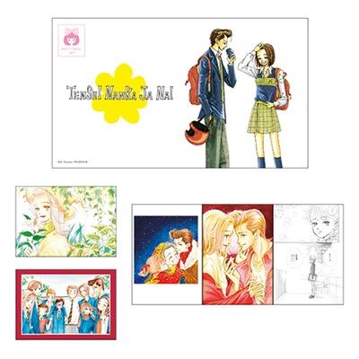カラーイラスト4枚、作中の名場面イラスト1枚を使用した5枚ポストカード。可愛いケース付き(1320円)/「特別展 りぼん」