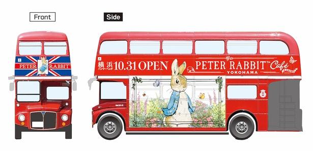 2019年10月30日(水)より期間限定で、ピーターラビットのアートが施されたロンドンバスが運行