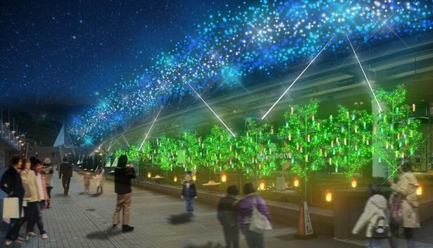 東京ドームシティには、七夕をイメージしたイルミネーションも登場(写真はイメージ)