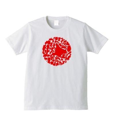 「東日本大震災チャリティーTシャツ 日の丸」(3400円~)