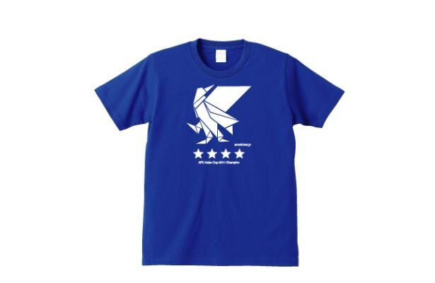 「アジアカップ優勝Tシャツ」(ブルー)(3400円)