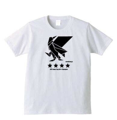 「アジアカップ優勝Tシャツ」(ホワイト)