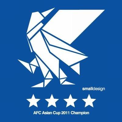 「アジアカップ優勝Tシャツ」デザイン