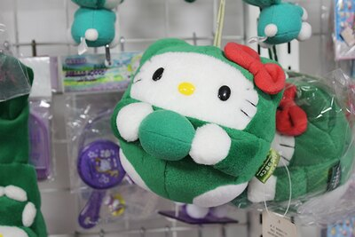 北海道限定「ボンボンハローキティ マリモ」。その土地ごとに異なるご当地キティと出合える