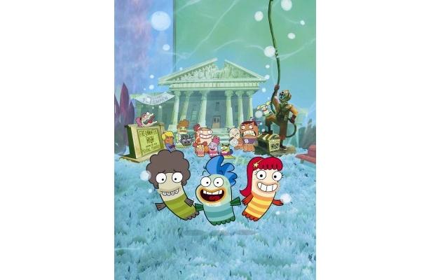 【写真】スイチュー!フレンズは、水槽の奥にある学校を舞台にした、ディズニーオリジナルの新アニメーションシリーズ
