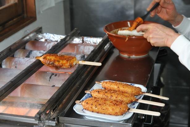 東美濃の五平餅のおいしい店が大集合。焼きたての香ばしい味と香りがたまらない!