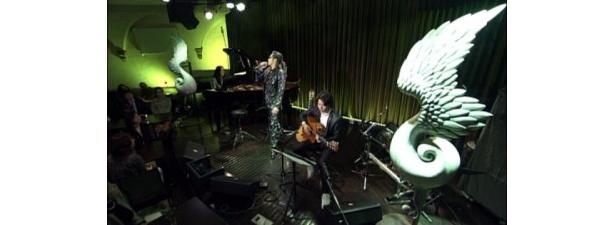 15日の放送で登場した石井竜也によるライブの様子