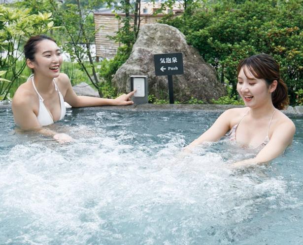 【写真を見る】杜の湯リゾート / 心地のよいマッサージ効果が得られる「気泡泉」