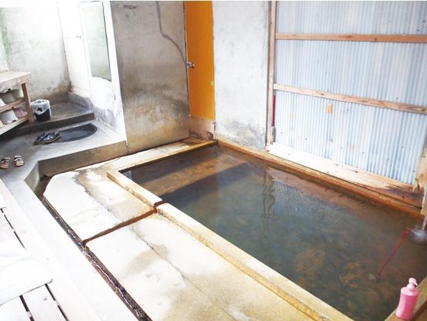 天保時代から存在する名泉として知られ、塩化物泉の湯は腰痛などに効くといわれる / 谷の湯