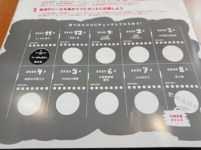 注文をする時にラーメンWalker神奈川2020を見せると、注文後にシールをもらえるので台紙に貼ろう