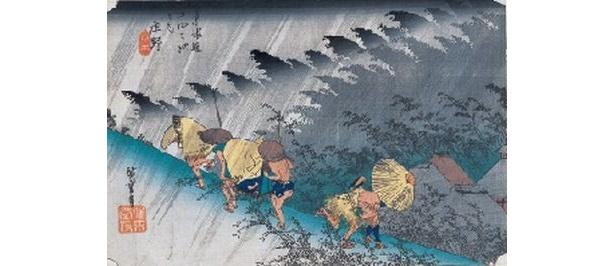 歌川広重「東海道五十三次」シリーズの中でも最も有名な一作 「東海道五拾三次之内 庄野」